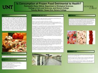 Is Consumption of Frozen Food Detrimental to Health?