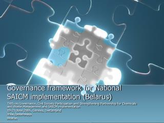 Governance framework for National SAICM implementation (Belarus)