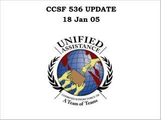 CCSF 536 UPDATE 18 Jan 05
