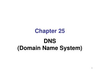 Chapter  25 DNS (Domain Name System)