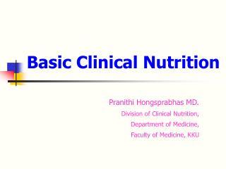 Basic Clinical Nutrition