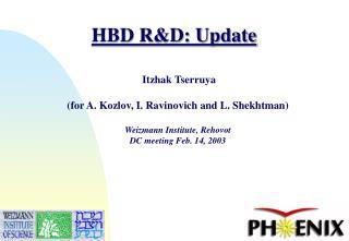HBD R&D: Update