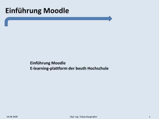 Einführung Moodle E-learning-plattform der beuth Hochschule