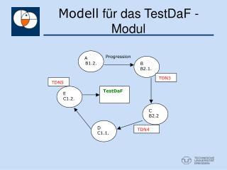 Modell  für das TestDaF - Modul