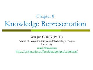 Chapter 8  Knowledge Representation