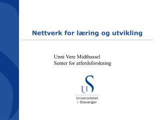 Nettverk for læring og utvikling