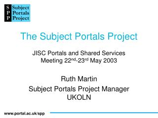 The Subject Portals Project