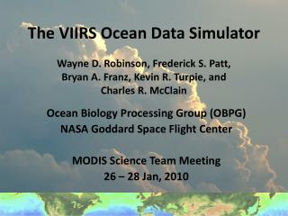 The VIIRS Ocean Data Simulator