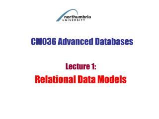 CM036 Advanced Databases