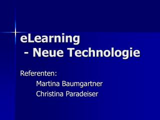 eLearning  - Neue Technologie
