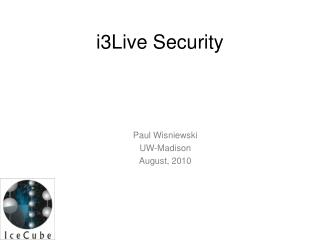 i3Live Security