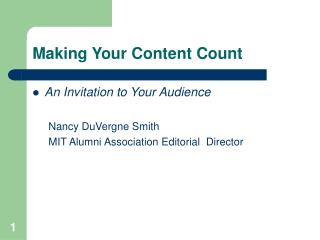 Making Your Content Count