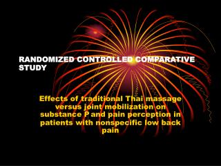 RANDOMIZED CONTROLLED COMPARATIVE STUDY