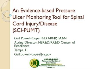 An Evidence-based Pressure Ulcer Monitoring Tool for Spinal Cord Injury/Disease  (SCI-PUMT)