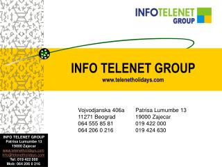 INFO TELENET GROUP telenetholidays
