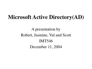 Microsoft Active Directory(AD)