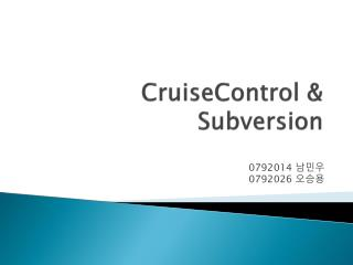 CruiseControl  & Subversion