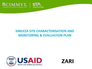SIMLEZA SITE CHARACTERISATION AND MONITORING & EVALUATION PLAN