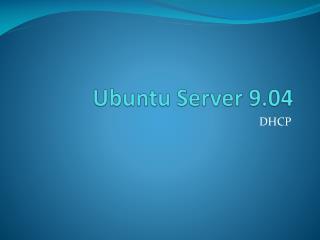 Ubuntu  Server 9.04