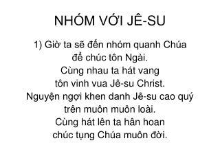 NHÓM VỚI JÊ-SU