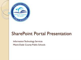 SharePoint Portal Presentation