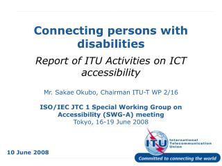 Connecting persons with disabilities