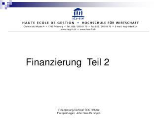 Finanzierung  Teil 2