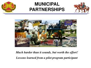 MUNICIPAL PARTNERSHIPS