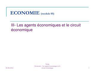 ECONOMIE  (module 05)