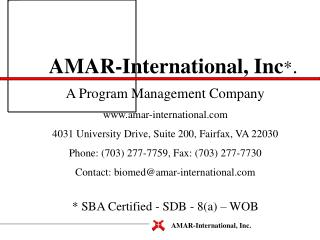 AMAR-International, Inc.