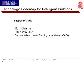 Technology Roadmap for Intelligent Buildings