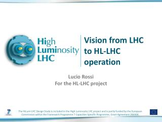 Vision  from  LHC to HL-LHC  operation