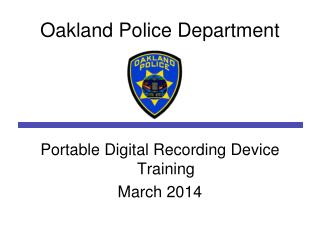 Oakland Police Department