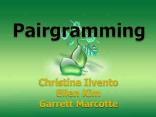 Christina  Ilvento Ellen Kim Garrett  Marcotte