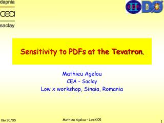 Sensitivity to PDFs at the Tevatron.