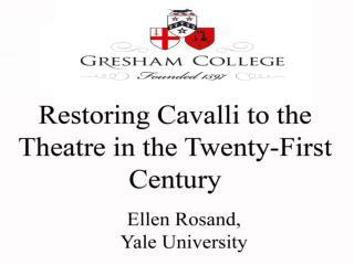 Cavalli Operas: Preliminary Bibliography