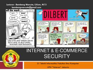 INTERNET & E-COMMERCE Security