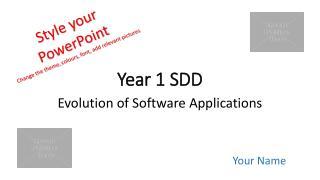Year  1 SDD