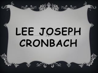 Lee Joseph Cronbach