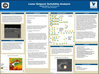 Lunar  Outpost: Suitability Analysis Stephen Ibanez   GIS  351  Spring 2014