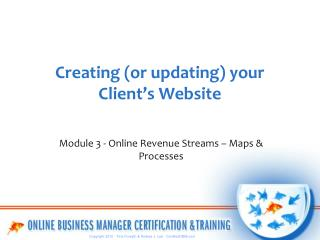 Creating (or updating) your Client's Website