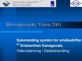 Hovedprosjekt, Våren 2001