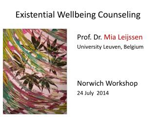 Existential Wellbeing Counseling