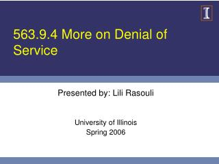 563.9.4 More on Denial of Service