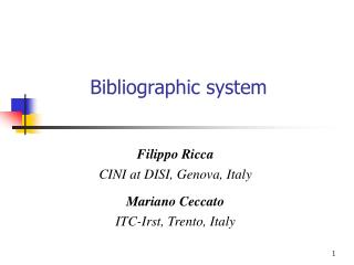 Bibliographic system