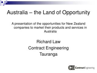 Australia � the Land of Opportunity