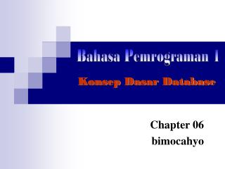 Bahasa Pemrograman 1