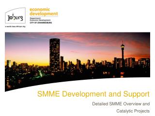 SMME Development and Support