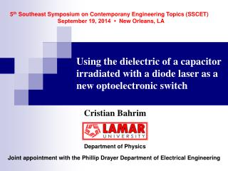 Using the dielectric of a capacitor irradiated with a diode laser as a new optoelectronic switch