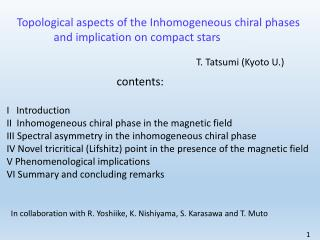 Topological aspects of the Inhomogeneous  chiral phases